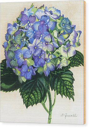 Floral Favorite Wood Print by Barbara Jewell