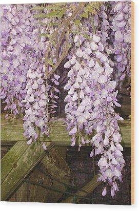 Floral Gate Wood Print