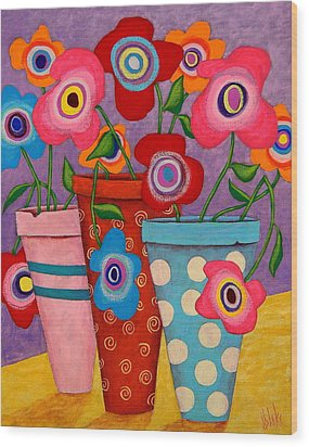 Floral Happiness Wood Print by John Blake