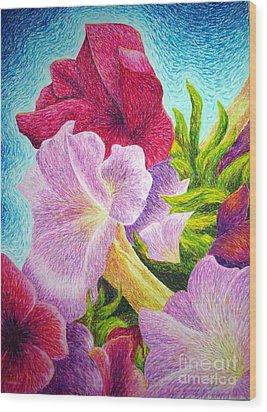 Floral In Pinks Wood Print