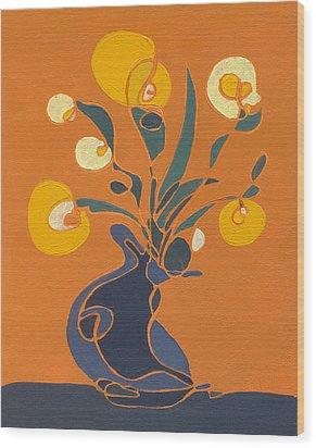 Floral Ix Wood Print