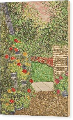 Floral Jewels Wood Print