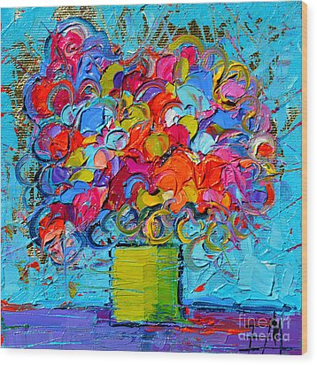 Floral Miniature - Abstract 0415 Wood Print