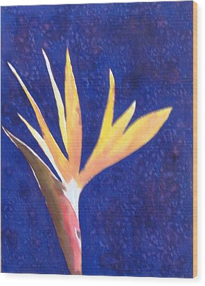 Floral Wood Print by Monika Deo