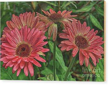 Wood Print featuring the photograph Floral Pink by Deborah Benoit