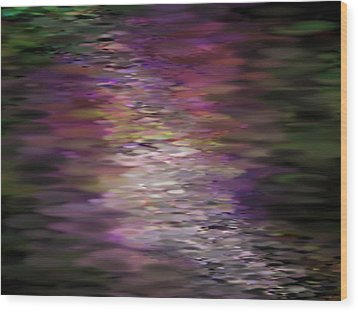 Floral Reflections Wood Print by Sandra Bauser Digital Art
