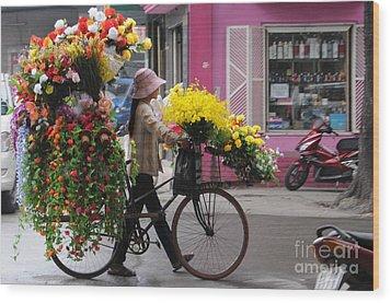 Floral Ride Wood Print