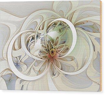 Floral Swirls Wood Print by Amanda Moore