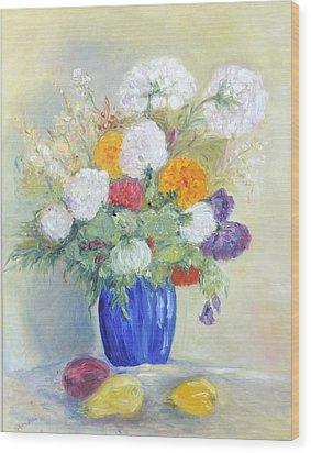 Floral Symphonie Wood Print by Barbara Anna Knauf