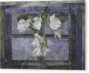 Wood Print featuring the photograph Floral Window Frame by Bonnie Willis