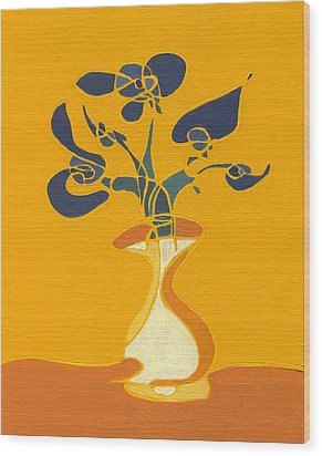 Floral Xi Wood Print
