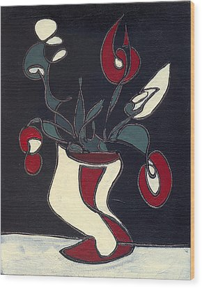 Floral Xiv Wood Print