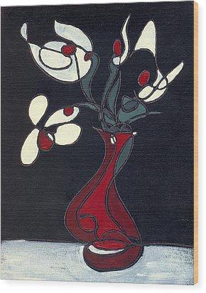 Floral Xv Wood Print