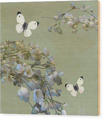 Floral07 Wood Print