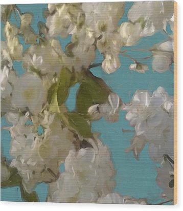 Floral09 Wood Print