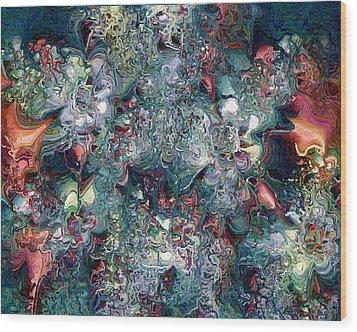 Wood Print featuring the digital art Floralia by Charmaine Zoe