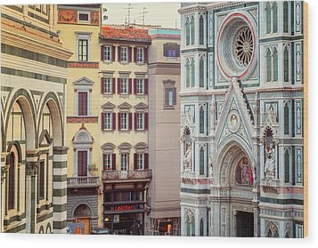 Wood Print featuring the photograph Florence Italy View by Joan Carroll