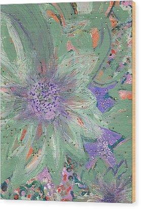 Flores De Amor Wood Print by Anne-Elizabeth Whiteway