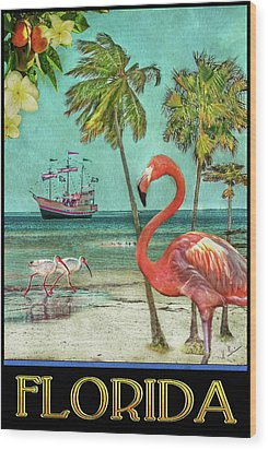 Wood Print featuring the photograph Florida Advertisement by Hanny Heim