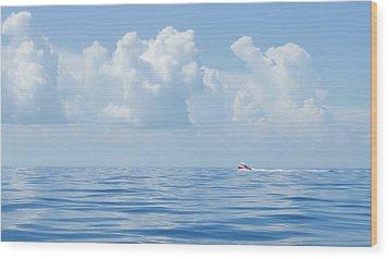 Florida Keys Clouds And Ocean Wood Print