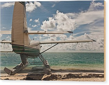 Florida Keys Seaplane Wood Print by Patrick  Flynn