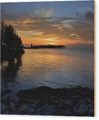 Wood Print featuring the photograph Florida Keys Sunset by Stephen  Vecchiotti