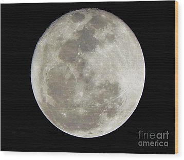 Florida Moon 2-28-2011 Wood Print by Jack Norton