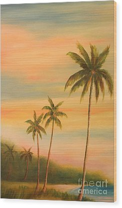 Florida Palms Trees Wood Print by Gabriela Valencia