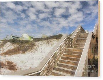 Florida Panhandle Sand Dunes Wood Print by Mel Steinhauer