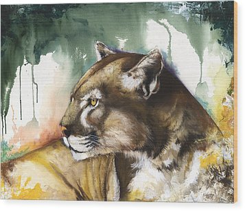 Florida Panther 2 Wood Print by Anthony Burks Sr