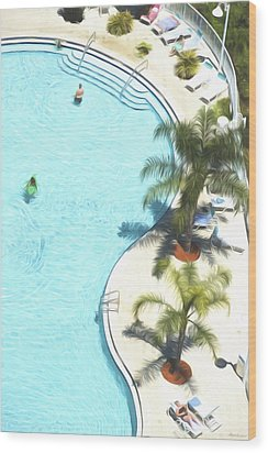 Florida Pool 33 Wood Print