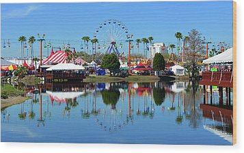 Wood Print featuring the photograph Florida State Fair 2017 by David Lee Thompson