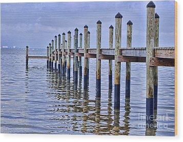 Floridian Pier  Wood Print