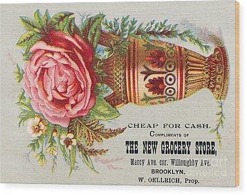 Florist Trade Card, C1890 Wood Print by Granger