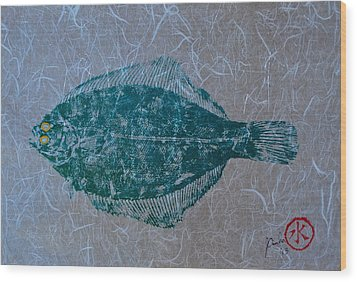 Flounder - Winter Flounder - Black Back Wood Print
