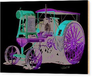 Flour City Gas Tractor Wood Print