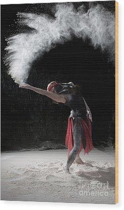Flour Dancing Series Wood Print by Cindy Singleton