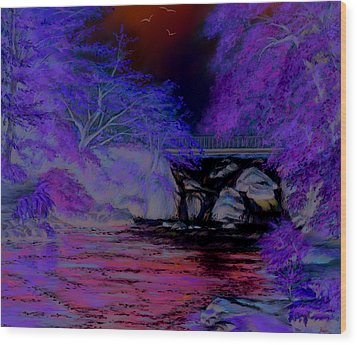 Flow Gently Wood Print by Vanda Luddy