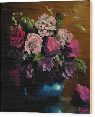 Flower Arrangement Wood Print by Ahmed Darwish