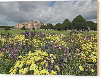 Flower Bed Hampton Court Palace Wood Print