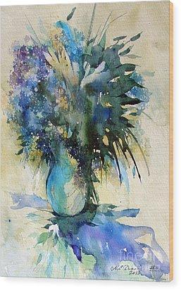 Flower Bouqet Wood Print