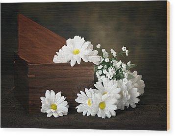 Flower Box Wood Print by Tom Mc Nemar