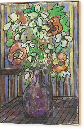 Flower Burst Wood Print by Ethel Vrana