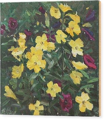 Flower Carpet Wood Print