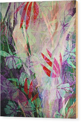 Flower Eruption Wood Print by Sue Reed
