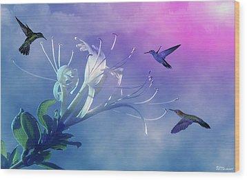 Flower  Wood Print by Evelyn Patrick