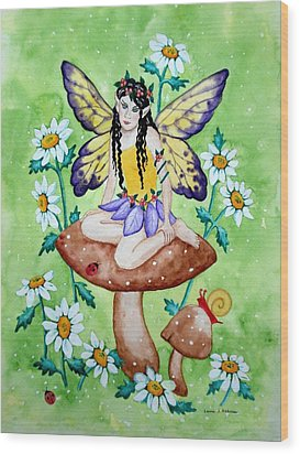 Flower Fairy Wood Print