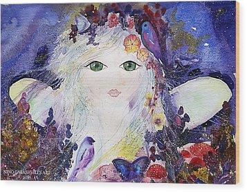 Flower Fairy Wood Print