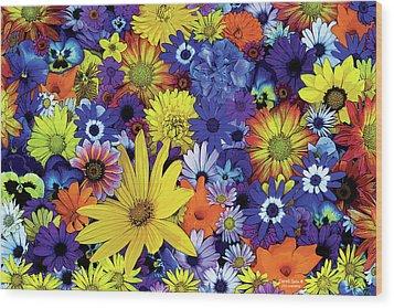Flower Garden 1 Wood Print by JQ Licensing