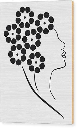 Flower Girl Wood Print by Frank Tschakert